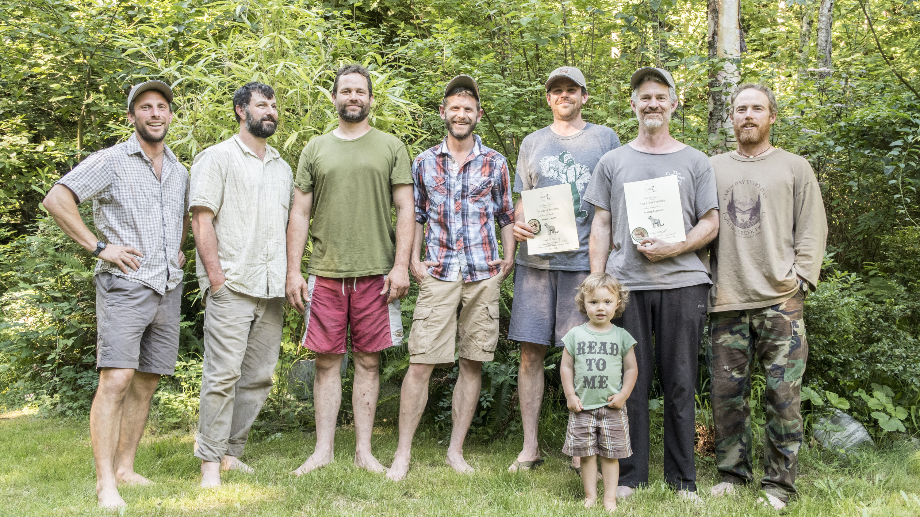 Pictured left to right Dave Moskowitz, Mark Elbroch, Matt Nelson, Casey McFarland, Preston Taylor, Willow McConnell(future bear trailer), Nate Harvey and Brian McConnell